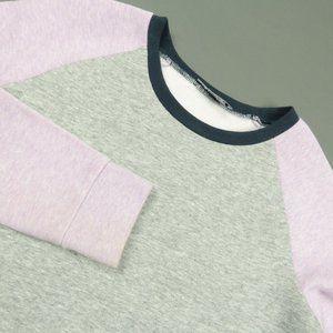 Vince Girls Raglan Sleeve Zip Sweater Size XL